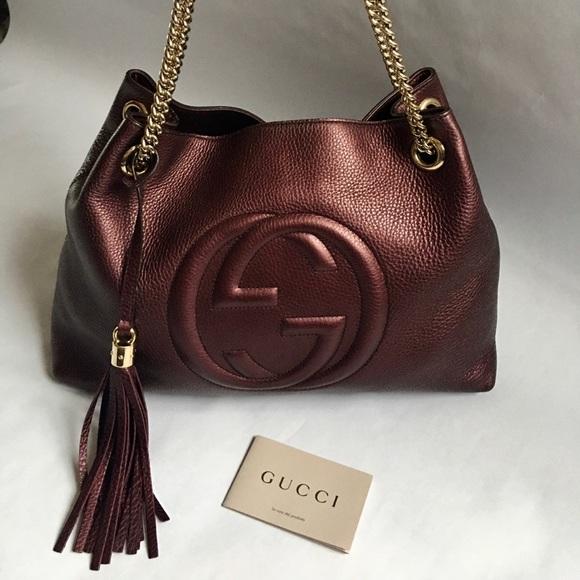 Gucci Handbags - 💯 Authentic Gucci bag burgundy Soho Medium